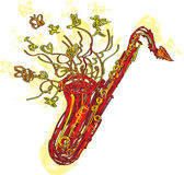 Abstract Sketchy Sax Royalty Free Stock Photography