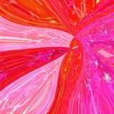 Ornamental abstract skew wave background  in neon pink and orange pattern with stained glass effect. Abstract skew wave background  in neon pink and orange Stock Photography