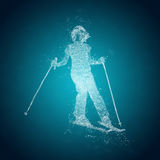 Abstract skier on a slope Royalty Free Stock Photos