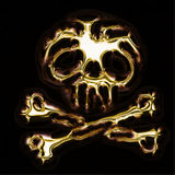 Abstract skull. Abstract gold skull generated by the computer Stock Photos
