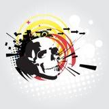 Abstract skull  art Stock Photo