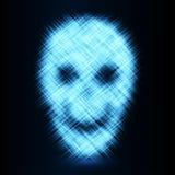 Abstract skull background. Vector illustration. Stock Photo