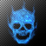 Abstract skull background. Vector illustration. Stock Image