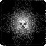 Abstract skull design. Abstract grunge design, vector illustration Stock Photos