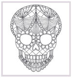Abstract skull lace ornament. Royalty Free Stock Images