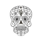 Abstract skull lace ornament. Stock Photography