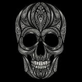 Abstract skull patterns on black background. Halloween 2016 Stock Photography