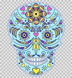 Hand drawn colorful skull Royalty Free Stock Image