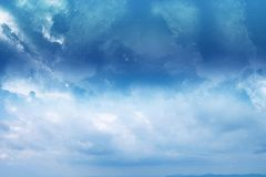 Abstract Sky. Abstract blue sky. Clear and calm royalty free stock photos