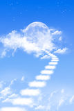 Abstract sky. Abstract,Cloud stairs to the moon Stock Images