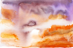 Abstract sky background watercolor painted  Royalty Free Stock Photos