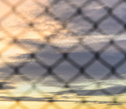 Abstract sky background with wire mesh Royalty Free Stock Photography