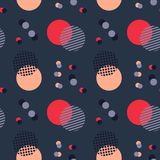 Abstract sky harmony seamless pattern. Suitable for screen, print and other media Stock Images