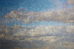 Abstract sky like painting on old wall Stock Photo