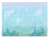 Abstract sky, minimal constellations wallpaper. Vector File EPS10 Stock Photography