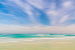Abstract sky and ocean nature background with blurred panning mo Royalty Free Stock Photos