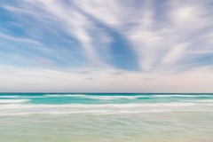 Abstract sky and ocean nature background. With blurred panning motion Royalty Free Stock Photos