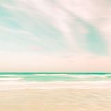 Abstract sky and ocean nature background. With blurred panning motion, retro look Royalty Free Stock Photography