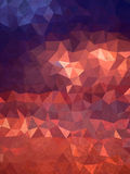 Abstract sky of sunrise with triangles and grudge texture Stock Photo