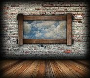 Abstract sky view through window Stock Image