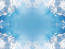 Abstract sky and white cloud frame. With sunlight Royalty Free Stock Photos