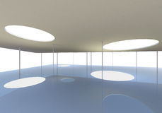 Abstract skylight of Conceptual modern building. 3D rendered Stock Illustration
