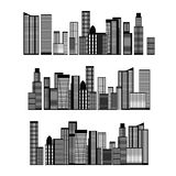 Abstract Skyline City. Vector Royalty Free Stock Images