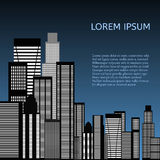 Abstract Skyline City. Vector. Abstract Skyline City Scape background. Vector illustration Royalty Free Stock Images