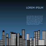 Abstract Skyline City. Vector. Abstract Skyline City Scape background. Vector illustration Stock Photography