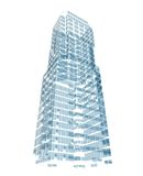 Abstract skyscraper consisting of blue planes Stock Images