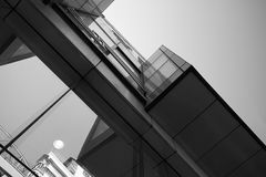 Abstract skyscraper vertical black white Stock Photo