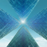 Abstract skyscrapers. High resolution 3d render Royalty Free Stock Image