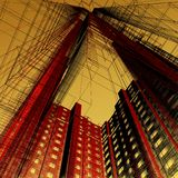 Abstract skyscrapers. 3d render illustration Stock Images