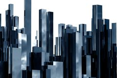Abstract skyscrapers 3d. Abstract  3d skyscrapers business office Stock Photo
