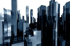 Abstract skyscrapers 3d. Abstract  3d skyscrapers business office Royalty Free Stock Photo