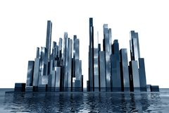 Abstract skyscrapers 3d Stock Photo