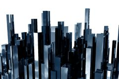 Abstract skyscrapers 3d Royalty Free Stock Image