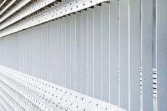 Abstract slats. Abstract image of metal slats in modern architecture Stock Photos