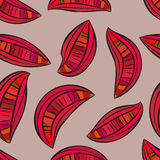Abstract slices look like guava seamless pattern Stock Photos