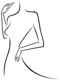 Abstract slim female outline Stock Image