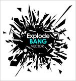 Abstract slow motion explode broken glass particle  design element Royalty Free Stock Photography