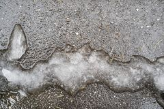 Abstract slush on asphalt of natural dirty color Stock Photography