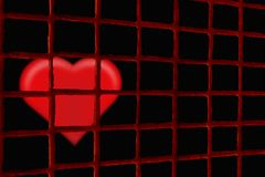 Abstract of small jail of love Royalty Free Stock Photo