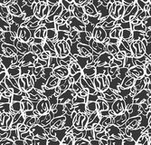 Abstract small overlapping curvy shapes white on black royalty free illustration