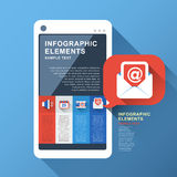 Abstract smart phone infographics Stock Photos