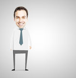 Abstract smile businessman Royalty Free Stock Photo