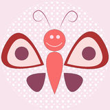 Abstract smiling butterfly Stock Photography