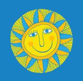 Abstract smiling sun Stock Image