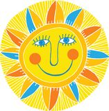 Abstract smiling sun Stock Photo