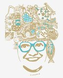 Abstract smiling woman in glasses Royalty Free Stock Images